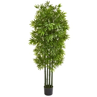 """64"""" Bamboo Artificial Tree with Green Trunks UV Resistant (Indoor/Outdoor)"""