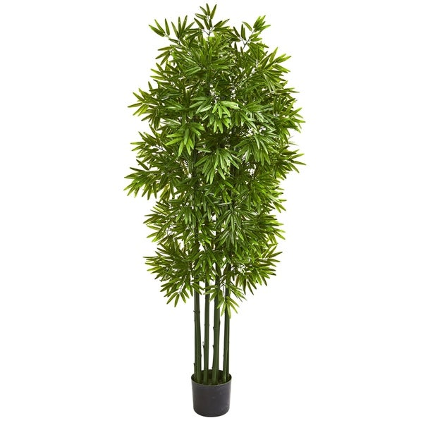 "64"" Bamboo Artificial Tree with Green Trunks UV Resistant (Indoor/Outdoor)"
