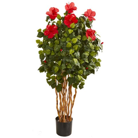 5' Hibiscus Artificial Tree