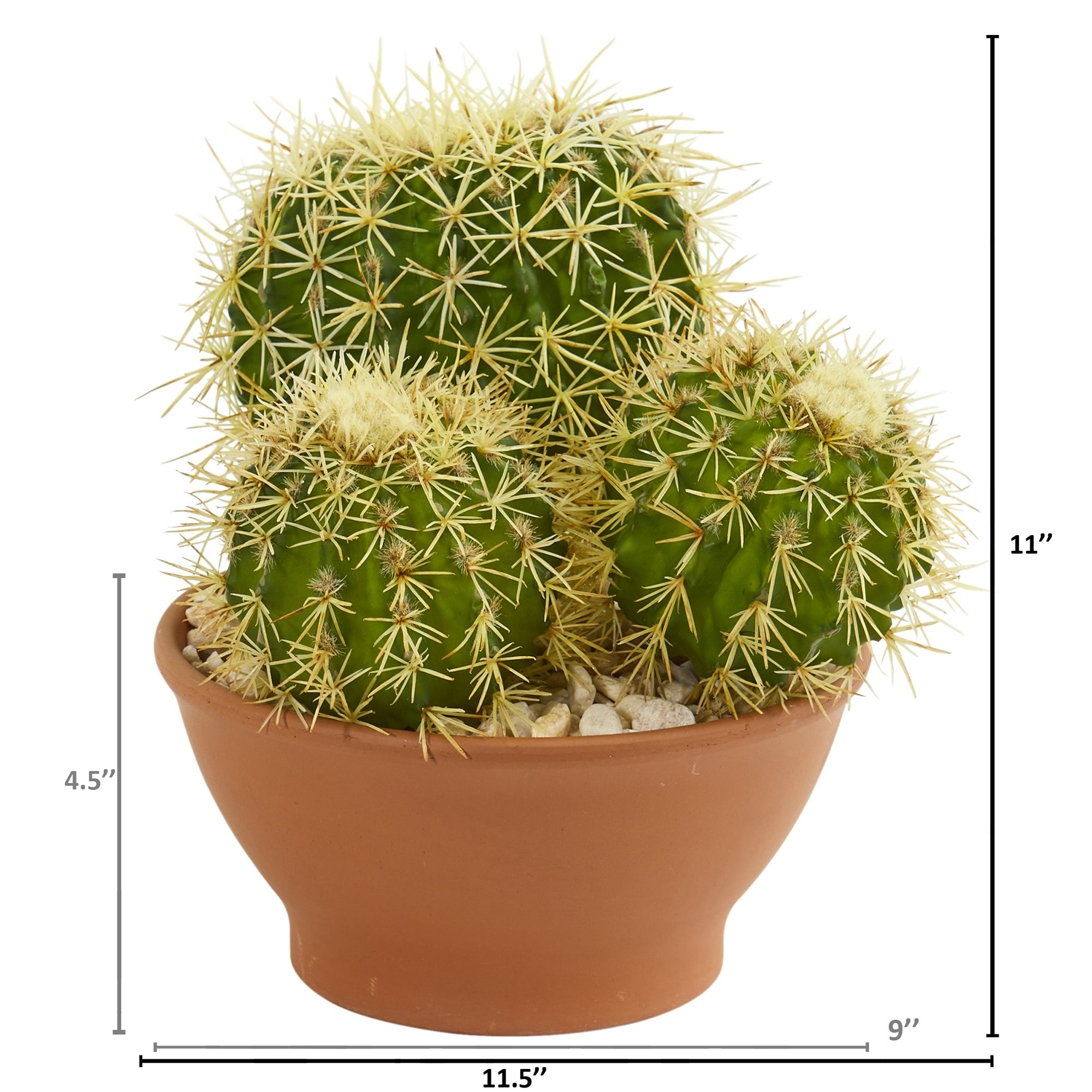 Shop Cactus Garden Artificial Plant In Decorative Planter