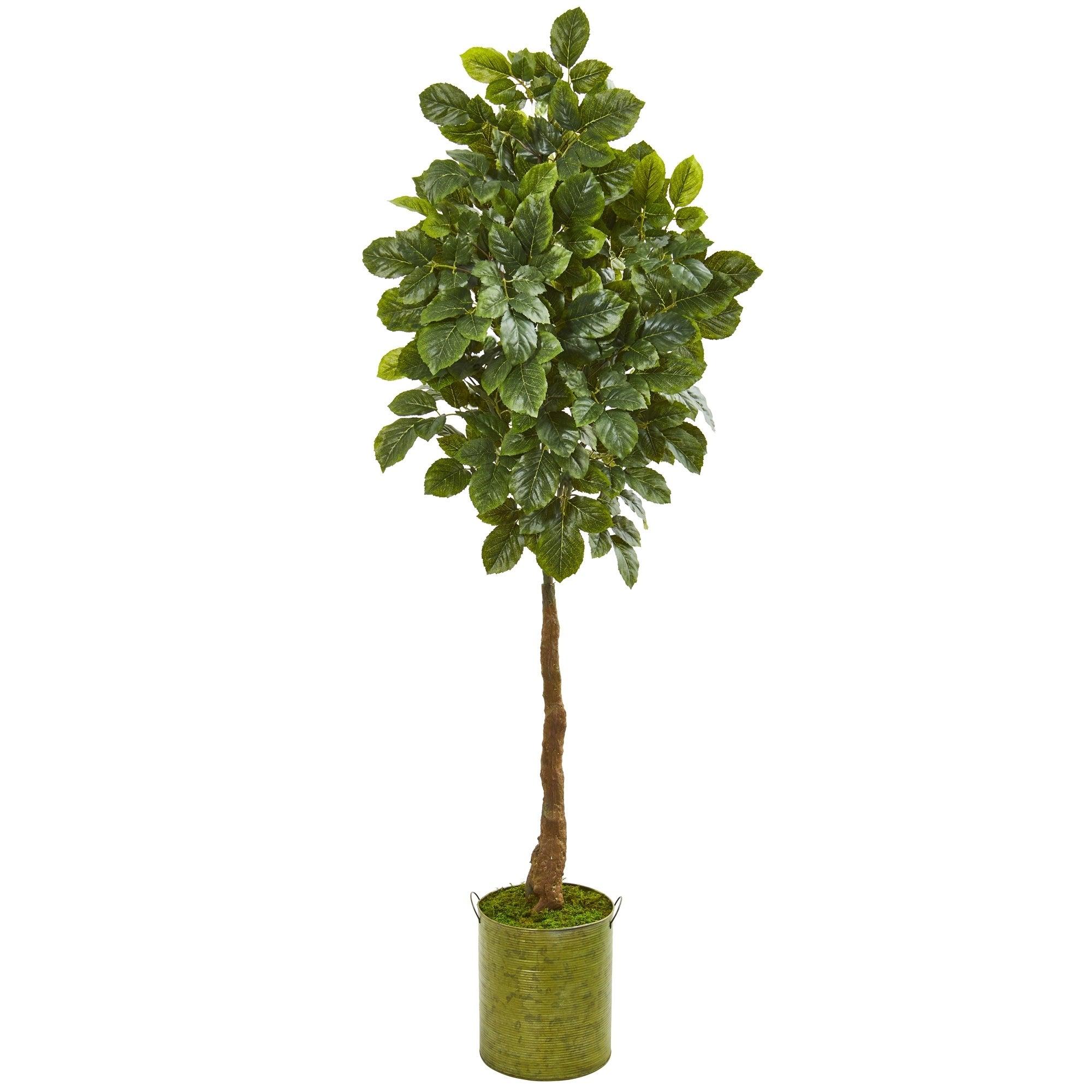 69 Beech Leaf Artificial Tree in Metal Planter