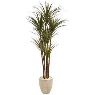 "68"" Giant Yucca Artificial Tree in Planter UV Resistant (Indoor/Outdoor)"