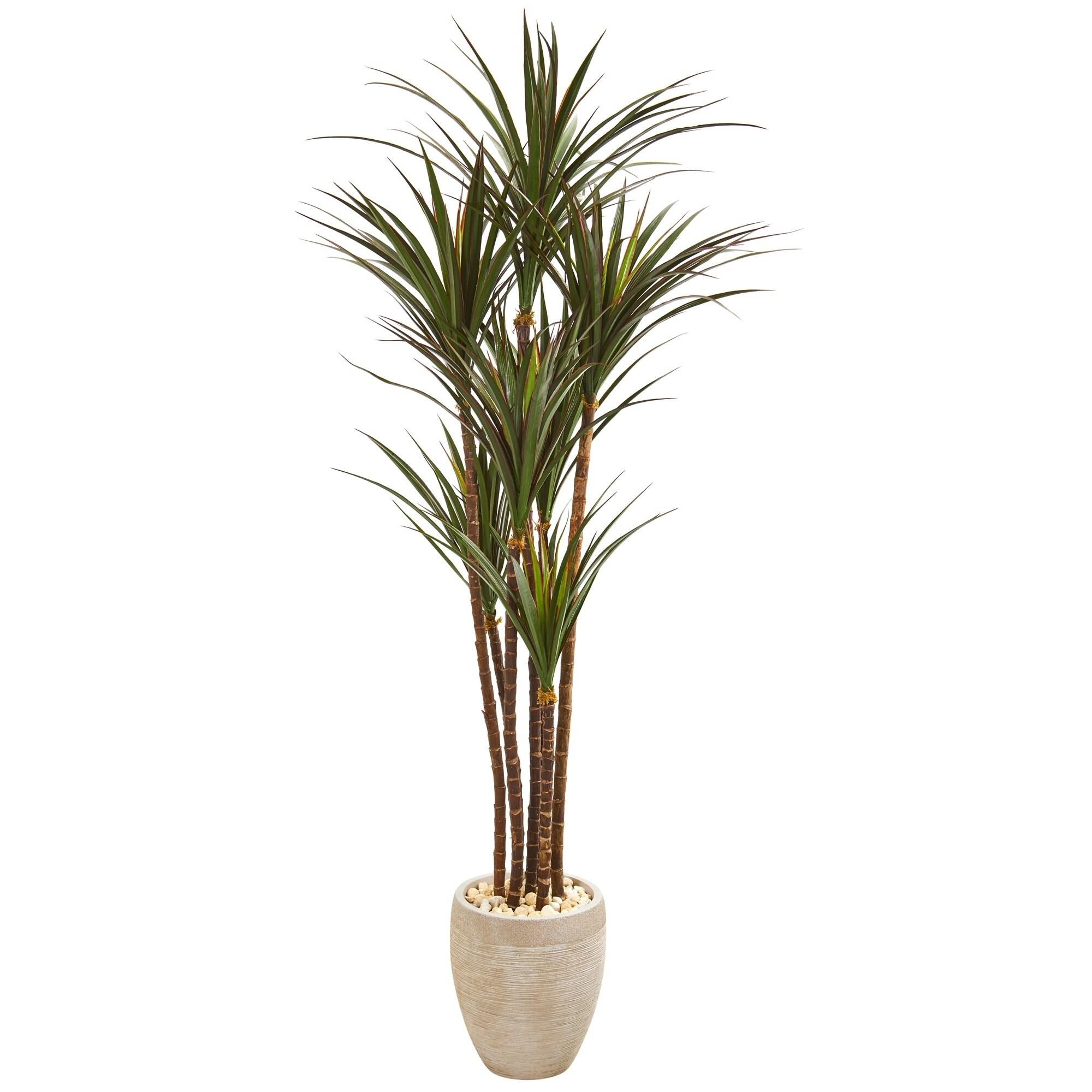 68 Giant Yucca Artificial Tree in Planter UV Resistant (Indoor/Outdoor)