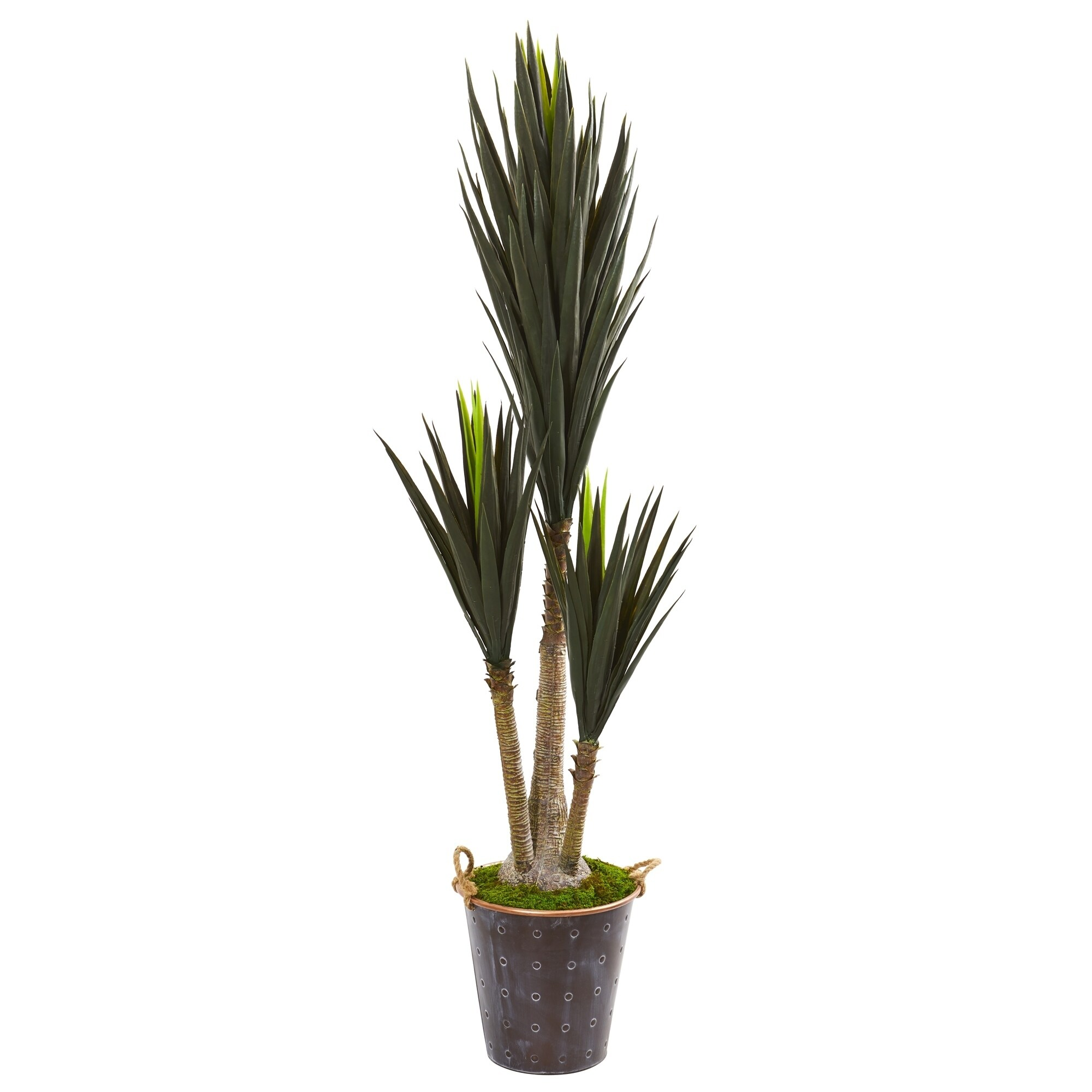 70 Yucca Artificial Plant in Metal Planter