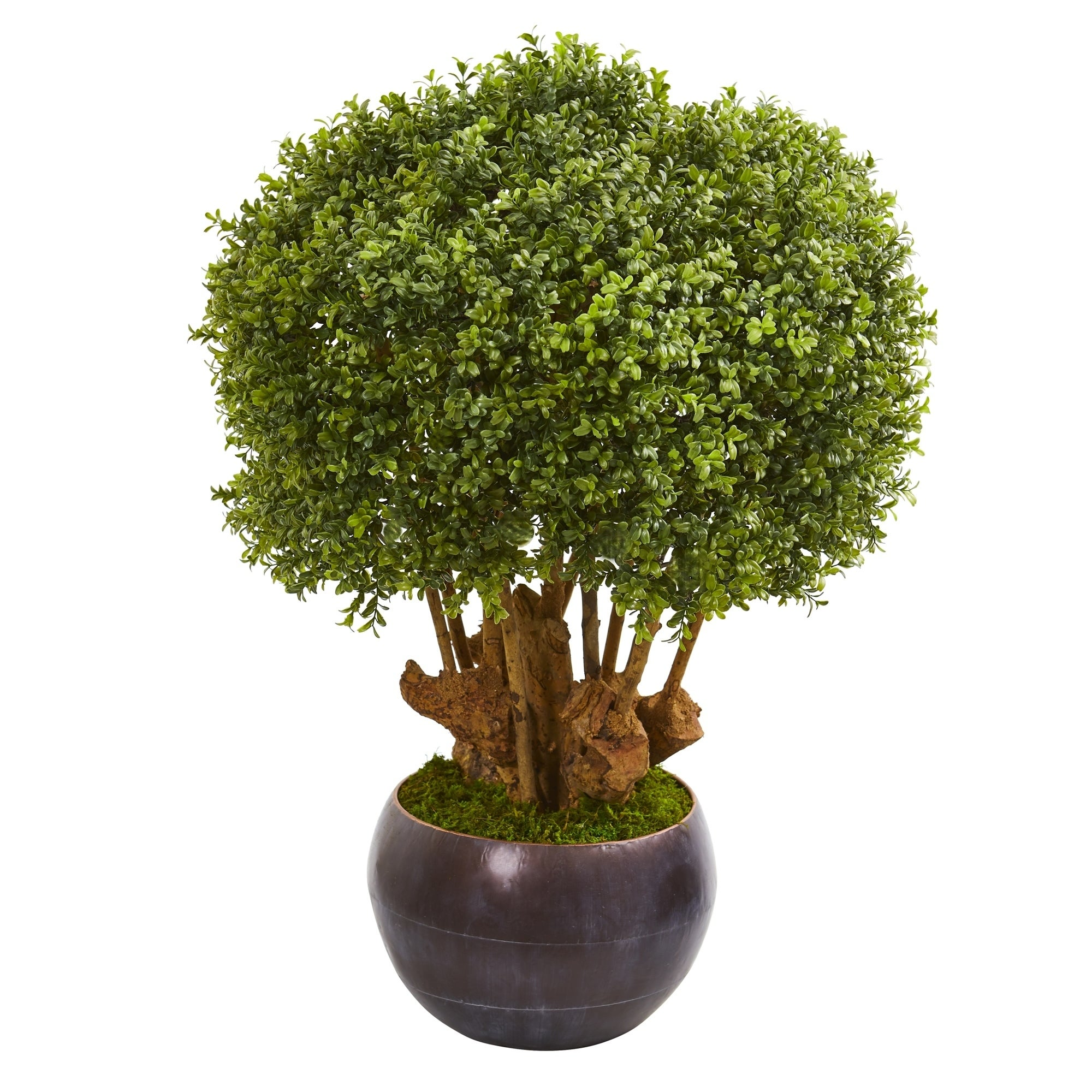 38 Boxwood Artificial Topiary Tree in Decorative Bowl (Indoor/Outdoor)