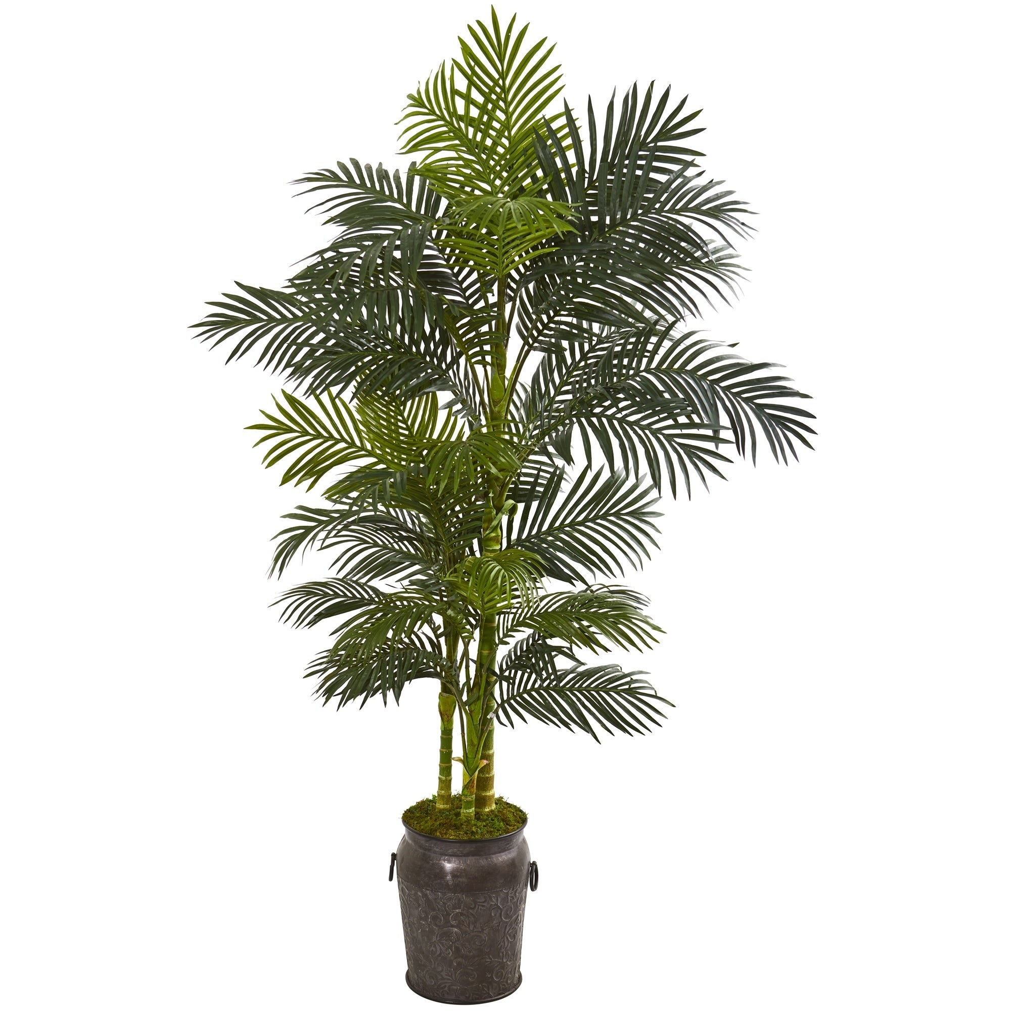 7 Golden Cane Artificial Palm Tree in Decorative Planter