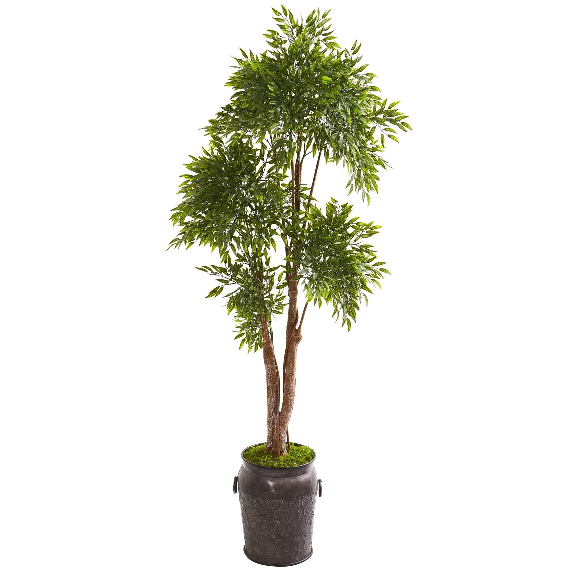 82 Ruscus Artificial Tree in Planter UV Resistant (Indoor/Outdoor)