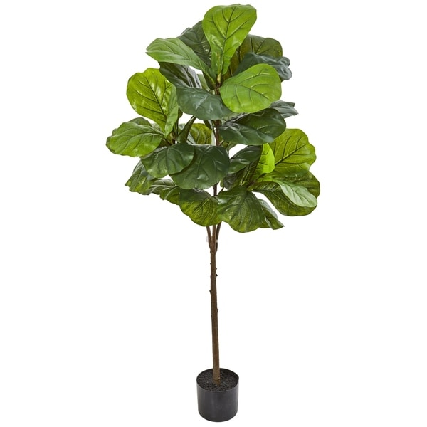 """54"""" Fiddle Leaf Artificial Tree (Real Touch). Opens flyout."""
