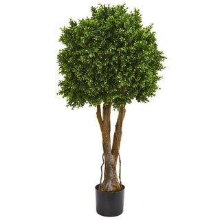 """Link to 46"""" Boxwood Artificial Topiary Tree UV Resistant (Indoor/Outdoor) Similar Items in Decorative Accessories"""