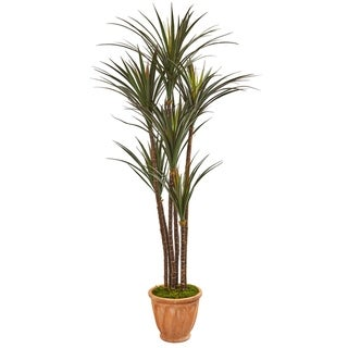 "69"" Giant Yucca Artificial Tree in Terracotta Planter UV Resistant (Indoor/Outdoor)"