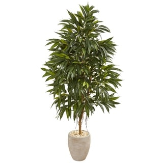 "74"" Royal Ficus Artificial Tree in Sand Colored Planter"