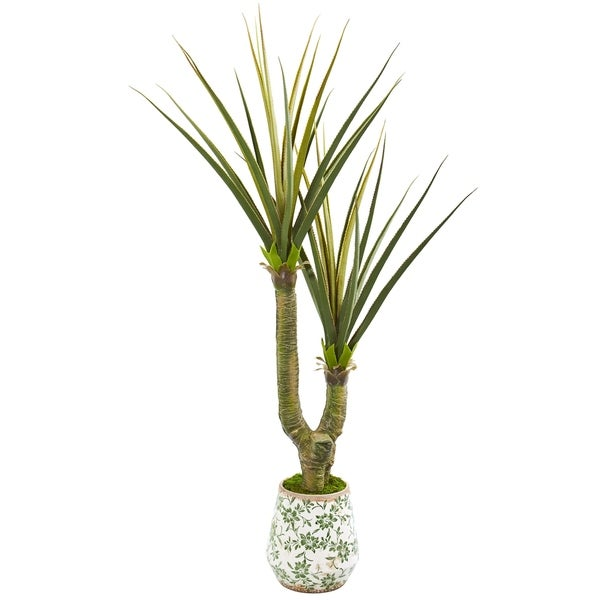 "69"" Yucca Artificial Plant in Decorative Planter"