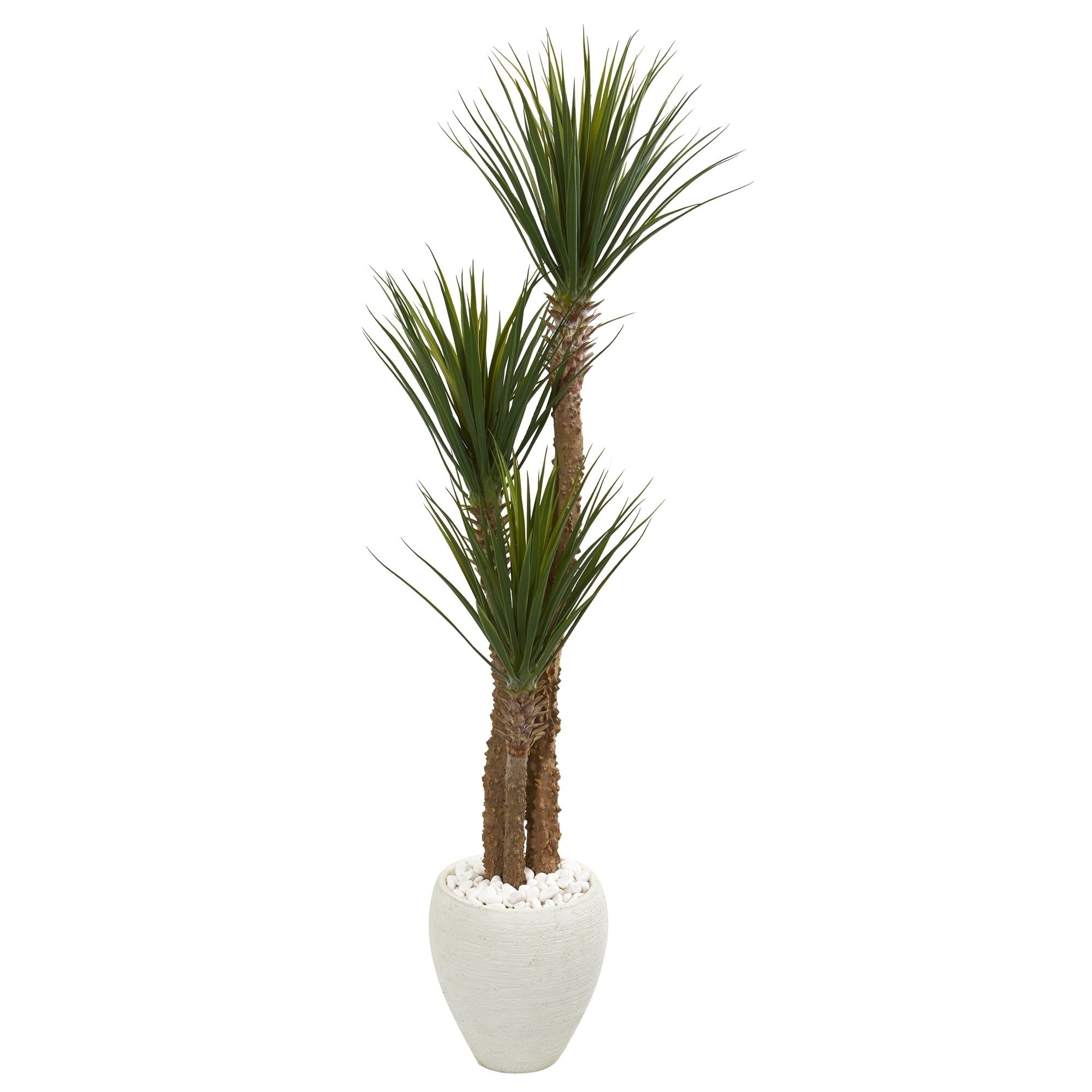5.5 Yucca Artificial Tree in White Planter
