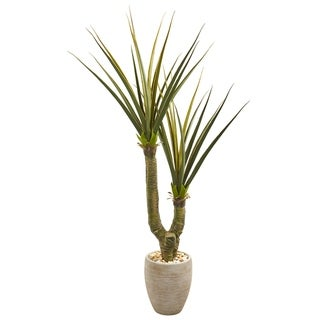"""68"""" Yucca Artificial Plant in Sand Colored Planter"""