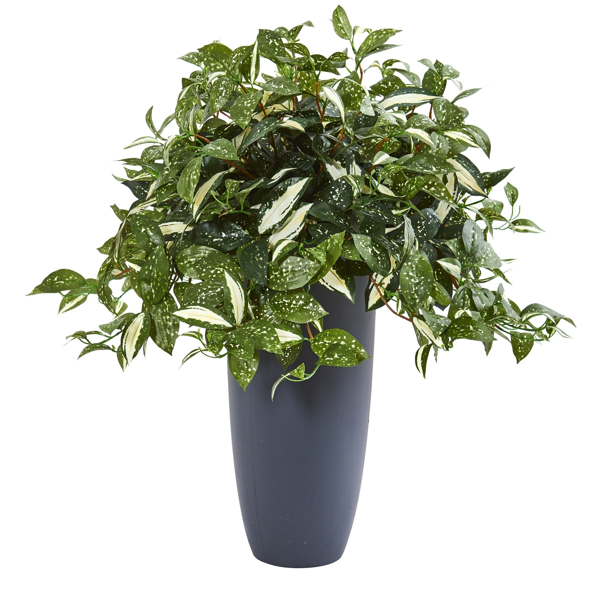28 Florida Beauty Artificial Plant in Gray Planter