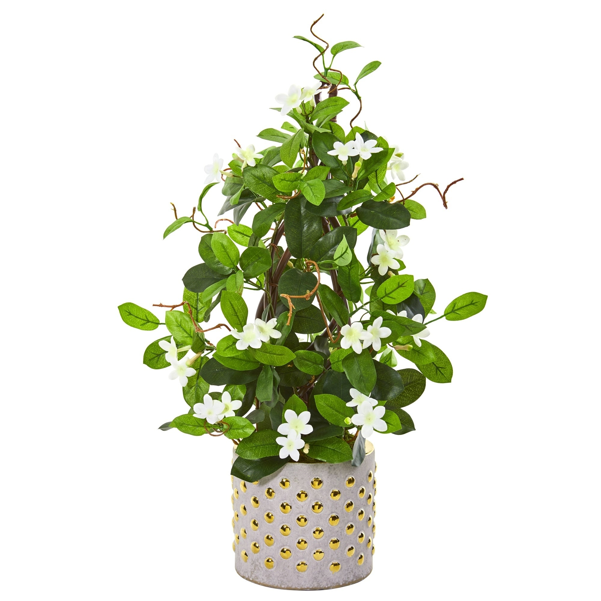 25 Stephanotis Artificial Climbing Plant In Designer Planter On Sale Overstock 27664440