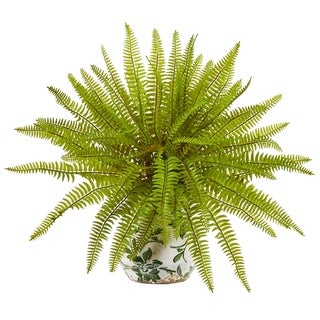 """15"""" Fern Artificial Plant in Floral Planter"""