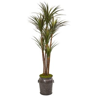 6' Giant Yucca Artificial Tree in Decorative Planter UV Resistant (Indoor/Outdoor)