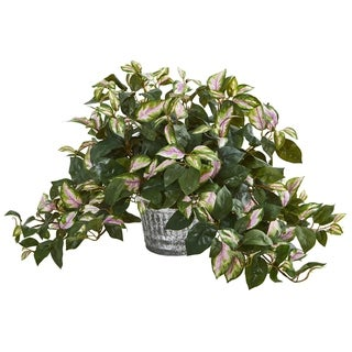 Link to Hoya Artificial Plant in Vintage Hanging Metal Planter Similar Items in Decorative Accessories