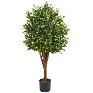 4' Eucalyptus Artificial Tree UV Resistant Indoor/Outdoor)