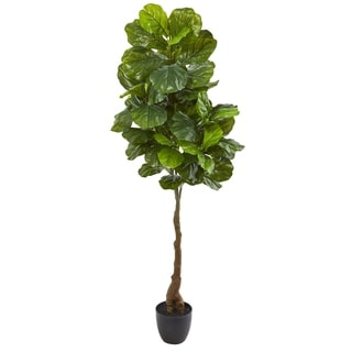 "Link to 64"" Fiddle Leaf Artificial Tree (Real Touch) Similar Items in Decorative Accessories"