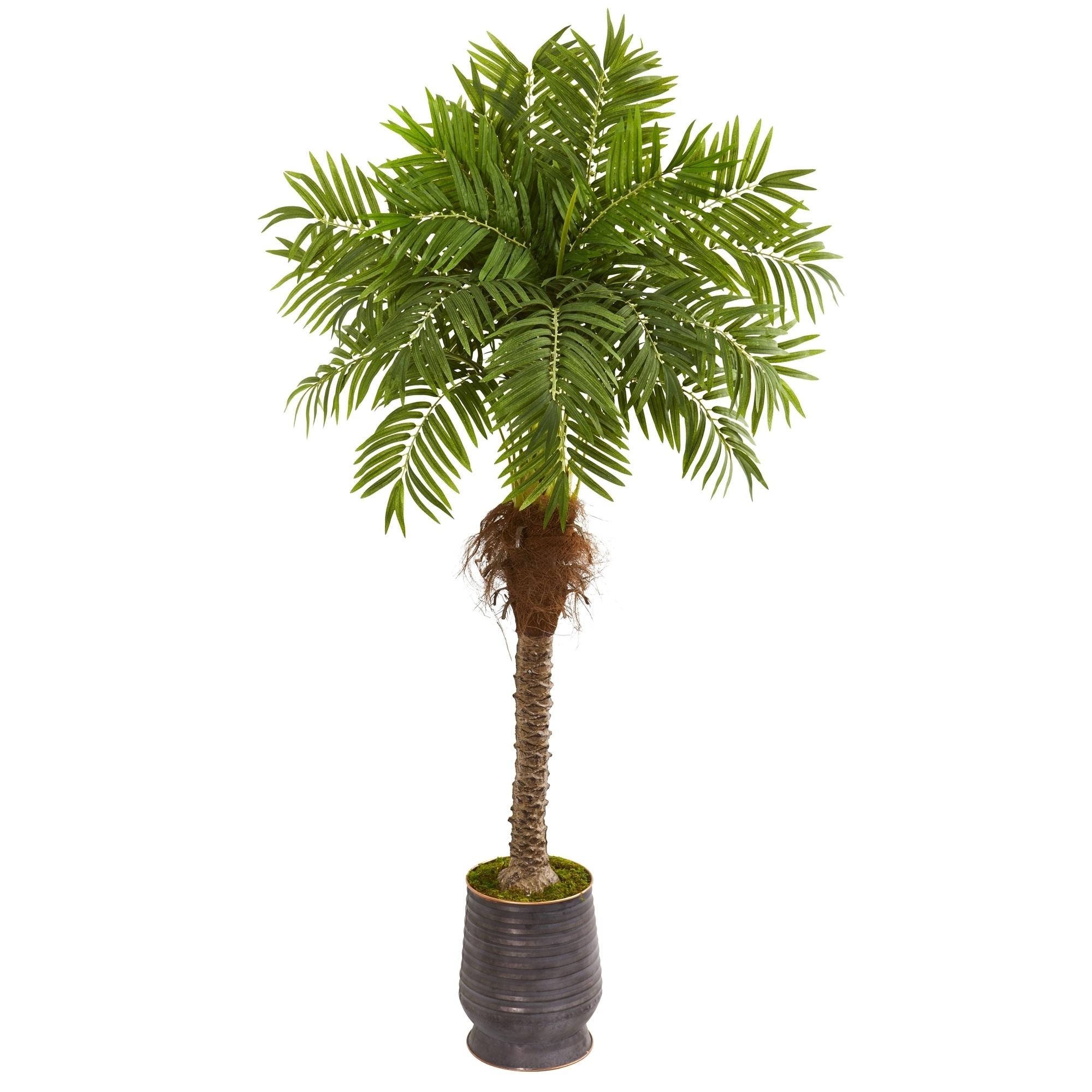 73 Robellini Palm Artificial Tree in Metal Planter