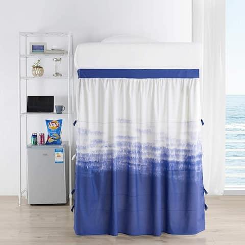 Ombre Ocean Bed Skirt Panel with Ties (1 & 3 Panel) - Purple Navy