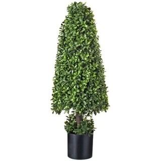 "American Boxwood Cone Topiary 37"" - Plastic"