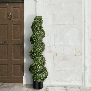 "American Boxwood Spiral Topiary 47"" - Plastic"