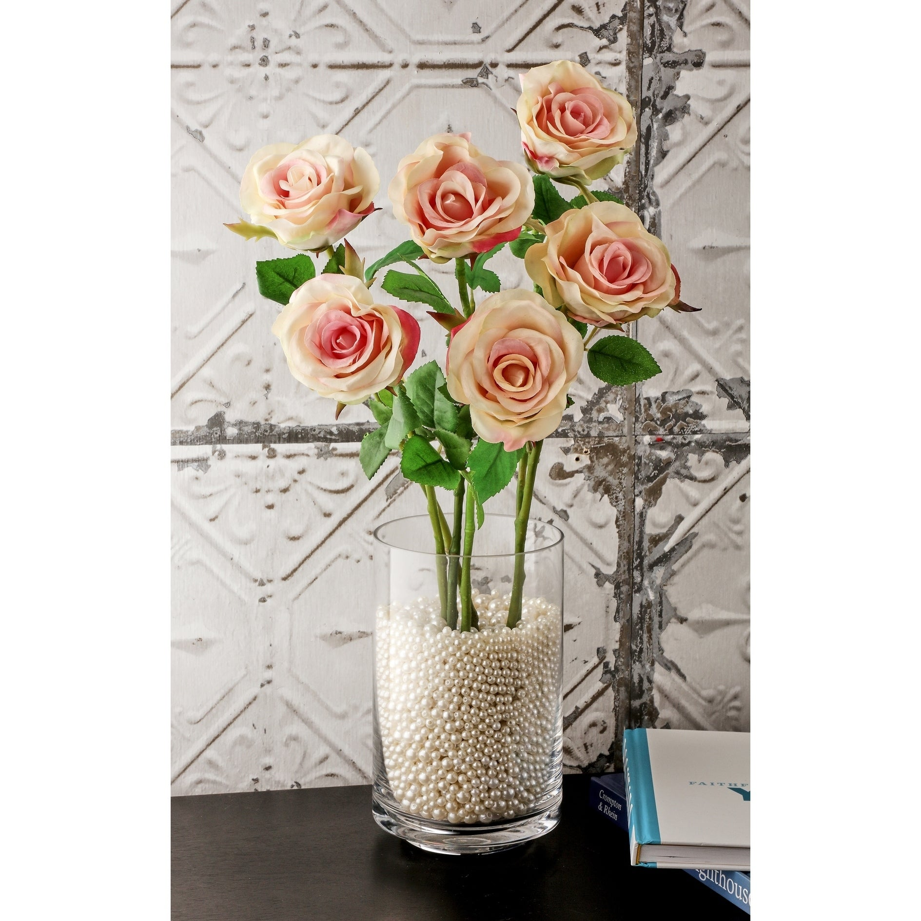 Natural Touch Parfait Roses 22 Long (Set of 6) - Champagne