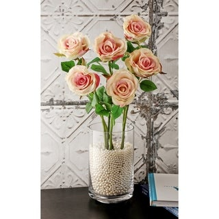 "Natural Touch Parfait Roses 22"" Long (Set of 6) - Champagne"