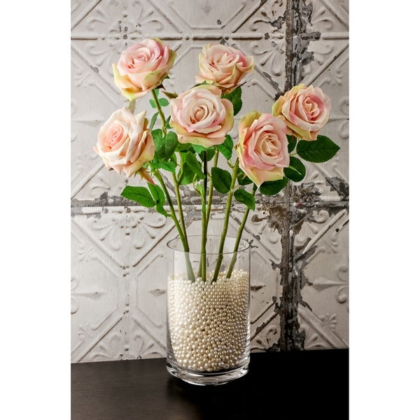 """Natural Touch Parfait Roses 22"""" Long (Set of 6) - Pink"""