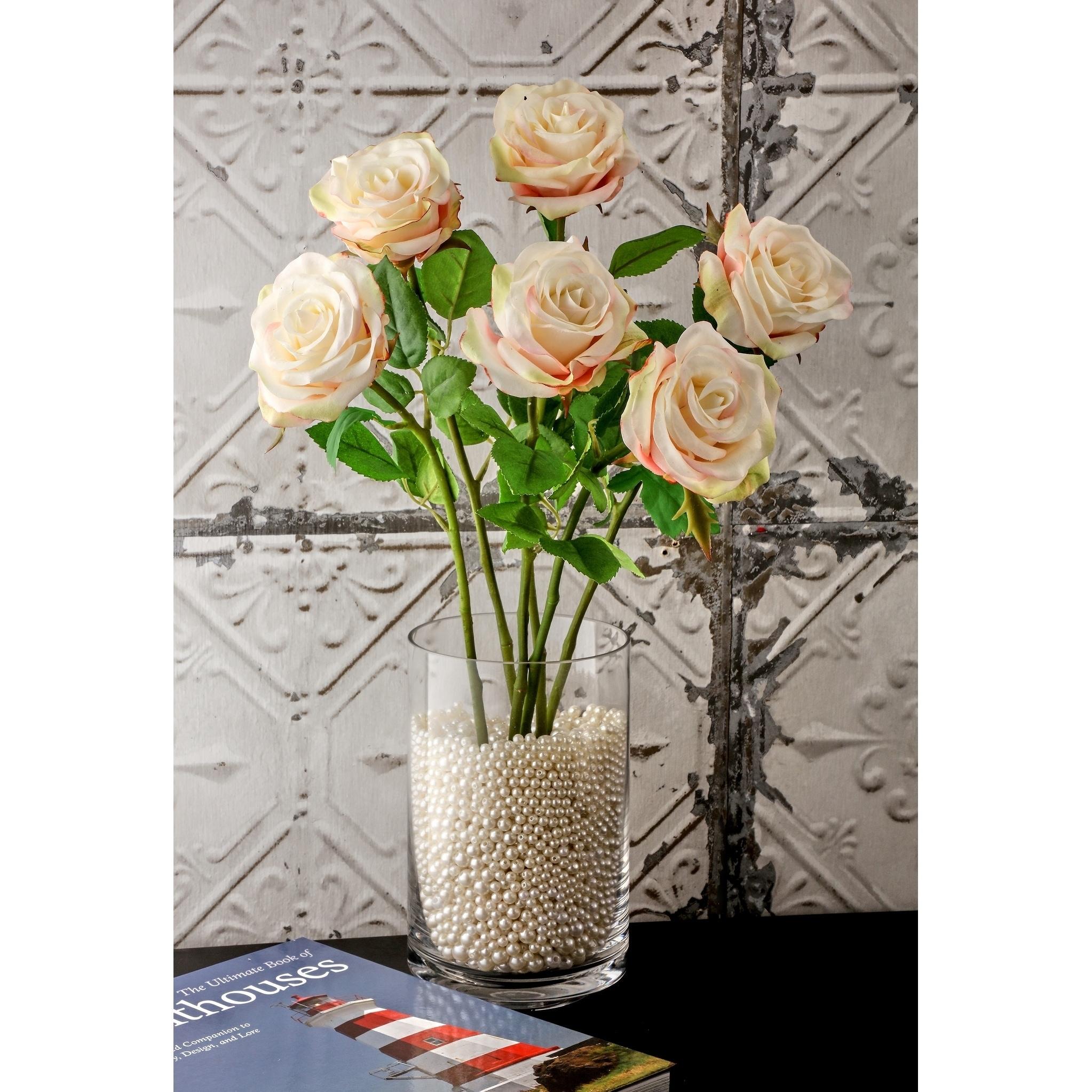 Natural Touch Parfait Roses 22 Long (Set of 6) - Blush