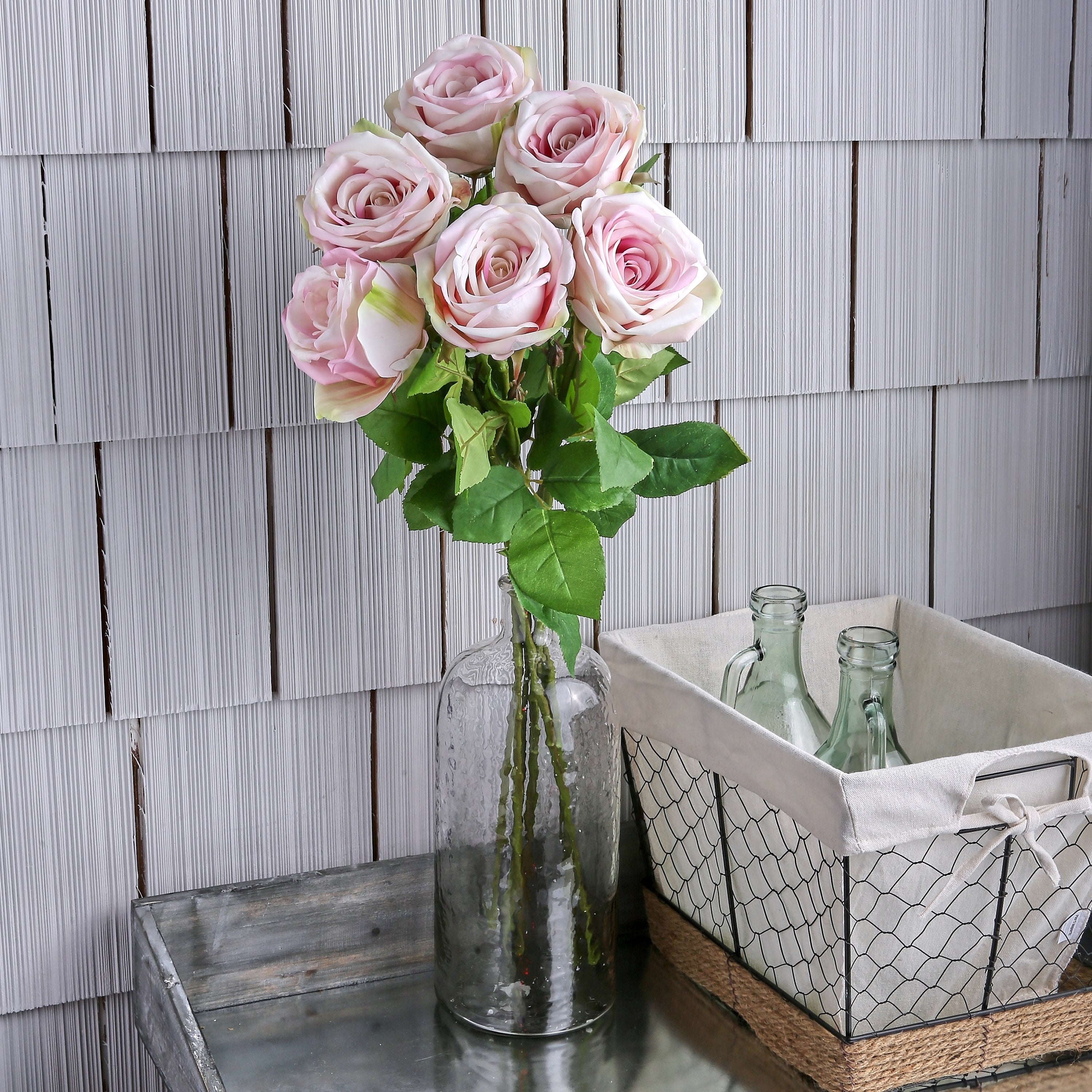 Natural Touch French Roses 26 Long (Set of 6) - Pink