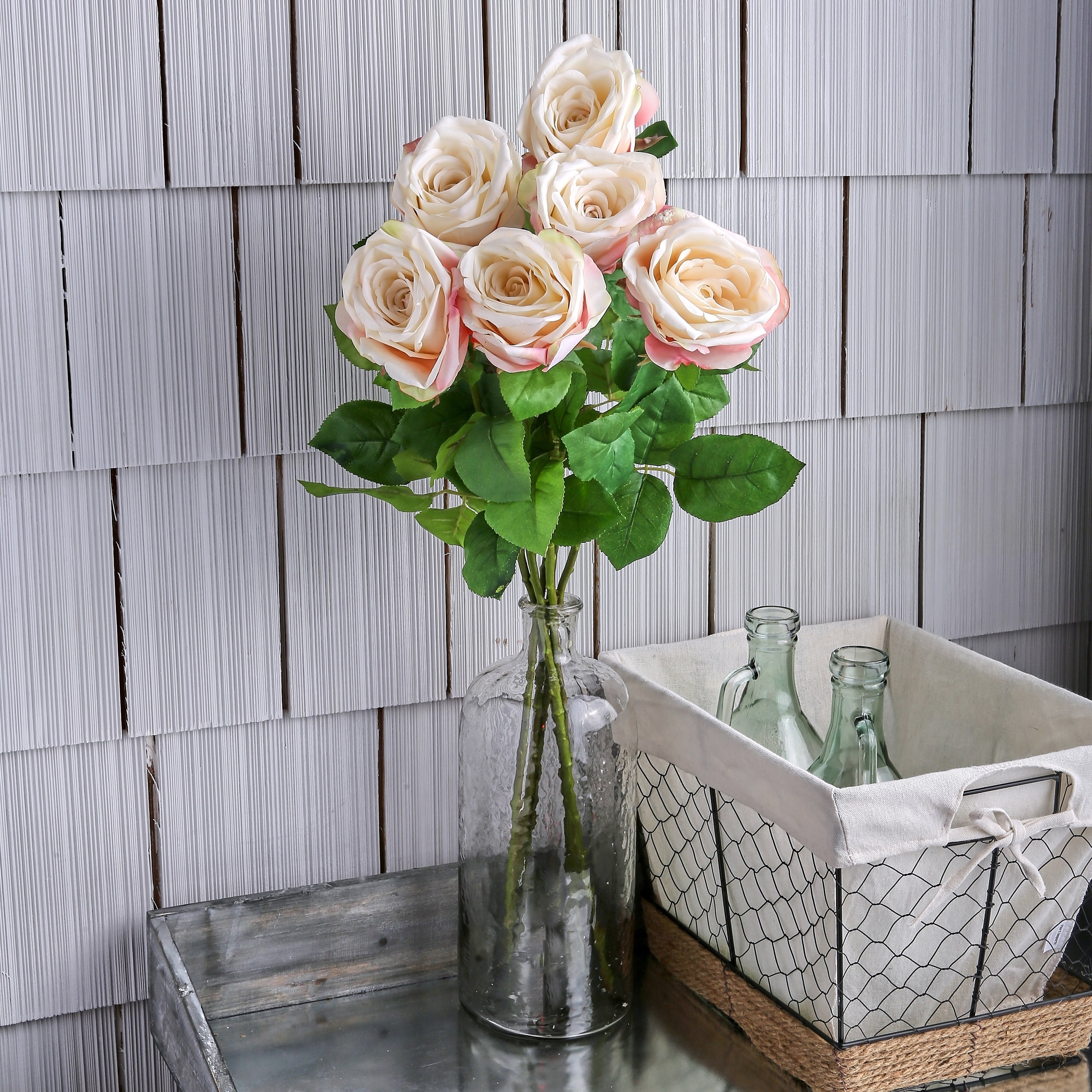 Natural Touch French Roses 26 Long (Set of 6) - Blush