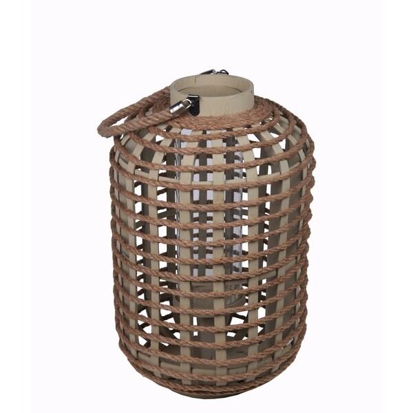 Privilege Brown Large Wooden Lantern