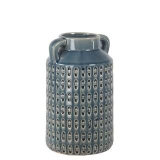 Privilege Blue Round Ceramic Pot