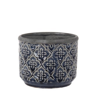 Privilege Dark Blue Round Ceramic Pot