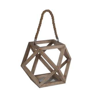 Privilege Hexagonal Wood Lantern
