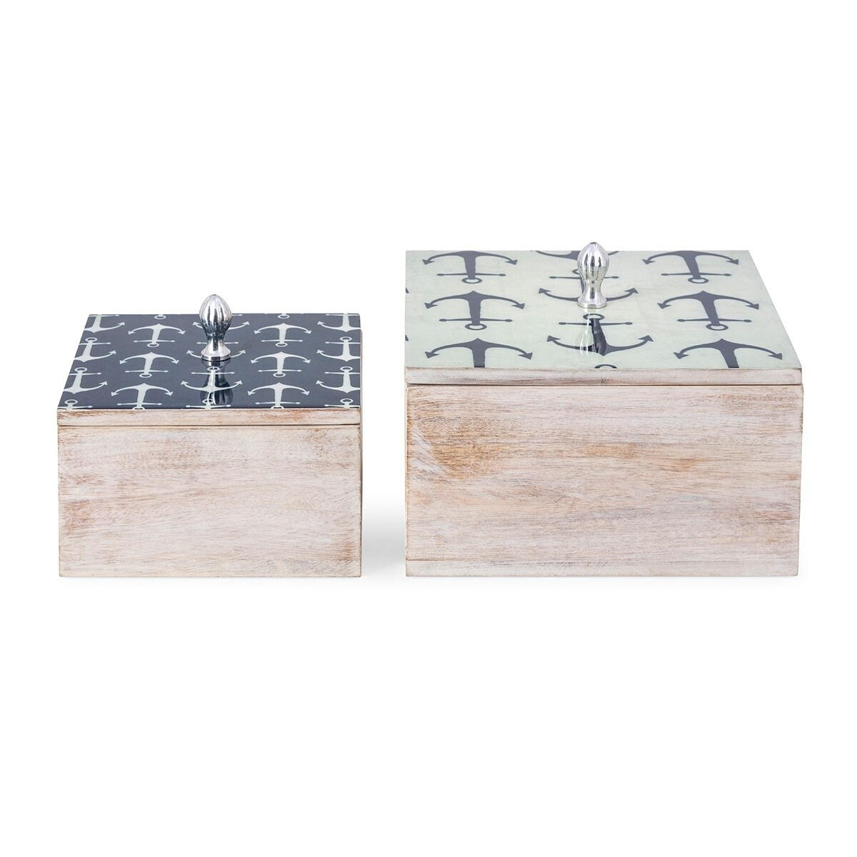Jesson Anchor Wood Boxes - Set of 2