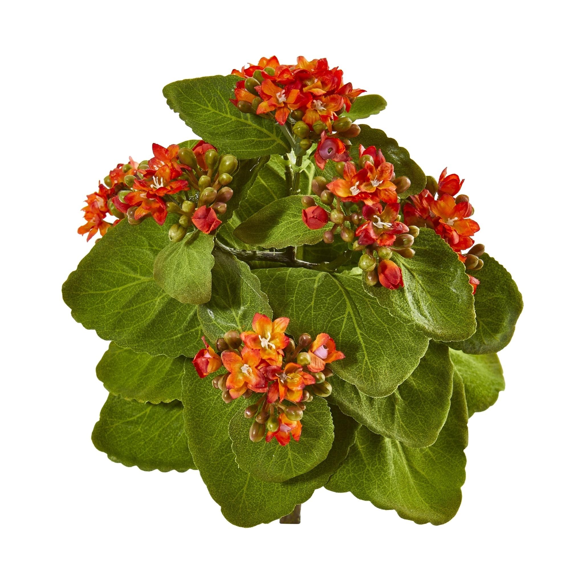 8 Kalanchoe Artificial Bush Flower (Set of 6)