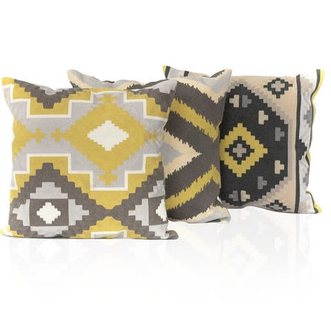 Porch & Den Chariot Kotter Home Aztec 18 x 18 Decorative Throw Pillow
