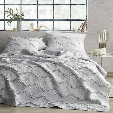 Moksha Eternal Gray Textured Ruffles Quilt