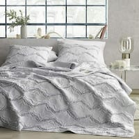 Moksha Eternal Gray Textured Ruffles Quilt
