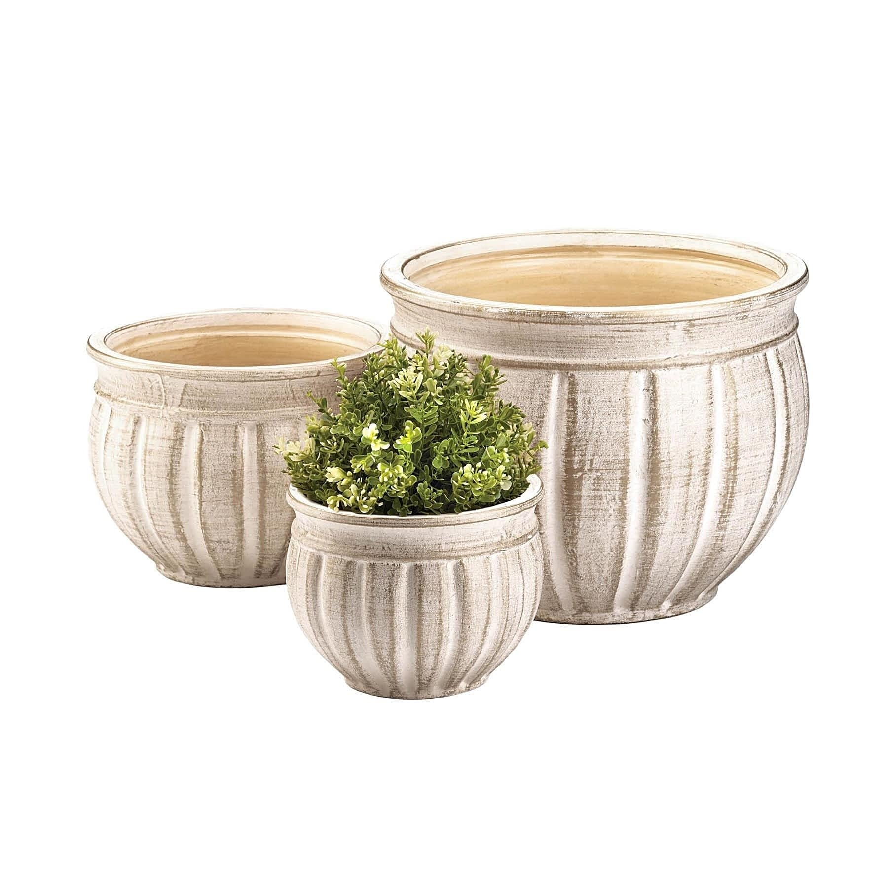 Haysville Vintage Ceramic Plant Holders - Set of 3