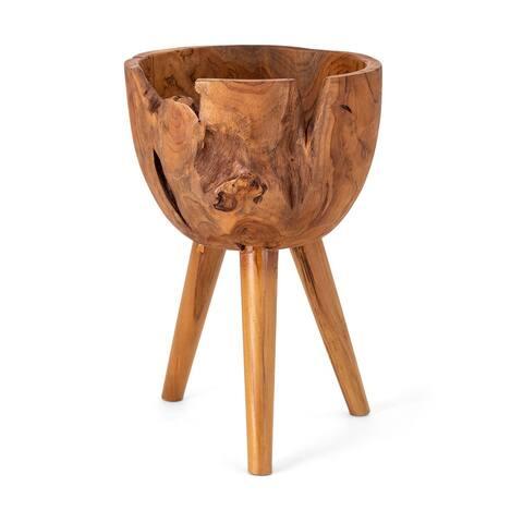Mod Teak Wood Bowl