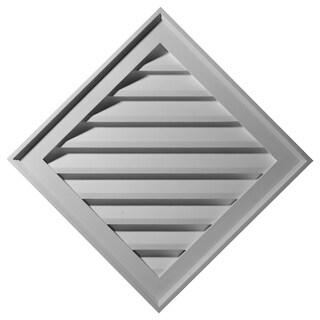 Diamond Gable Vent Louver (34W x 34H x 3 1/4P - Non-Functional)