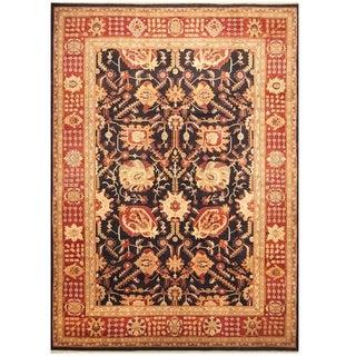 Handmade One-of-a-Kind Vegetable Dye Oushak Wool Rug (Afghanistan) - 10' x 14'