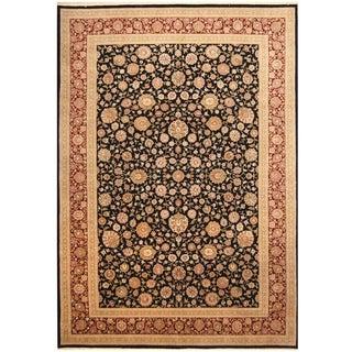 Handmade Tabriz Wool and Silk Rug (India) - 9'6 x 13'6