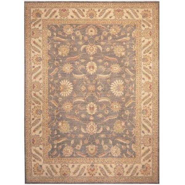 Handmade Vegetable Dye Oushak Wool Rug (Afghanistan) - 10' x 13'9
